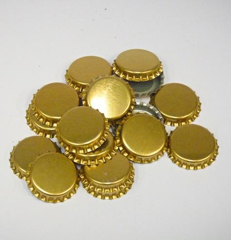 Gold Crown Seals 100 pieces.