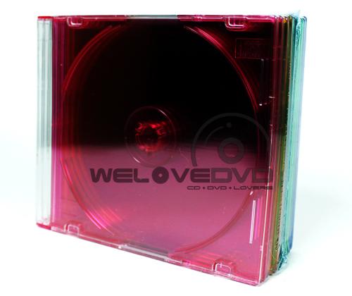1 CD Slim Jewel Case Color (10 pcs)