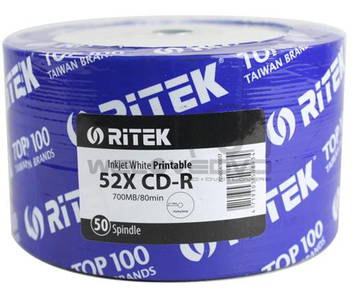 RiTEK CD-R 52X Printable (50 pcs/Plastic Wrap)
