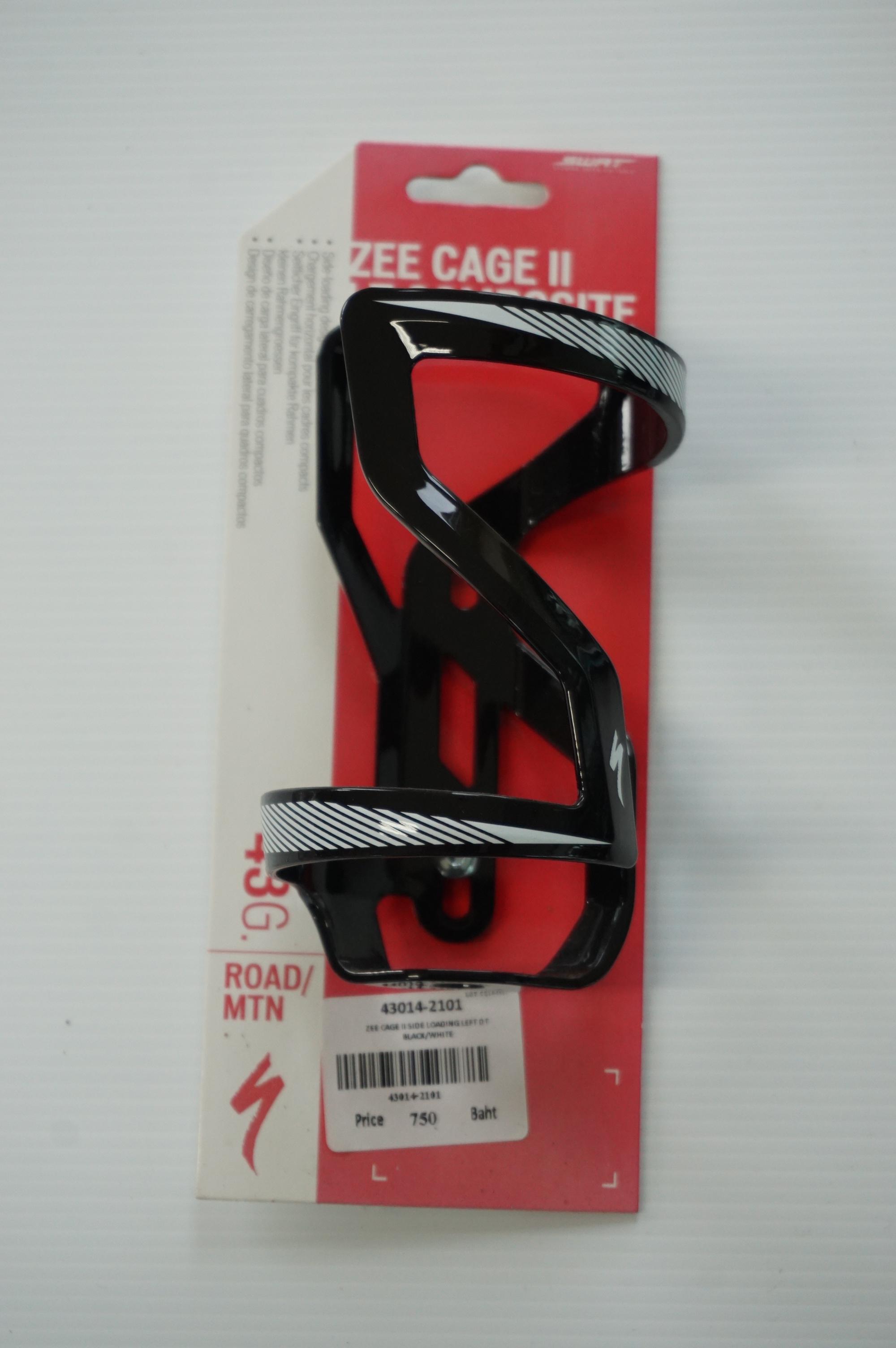ขากระติกน้ำ ZEE สีดำขาว ZEE CAGE II SIDE LOADING LEFT DT BLACKWHITE_43014-2101