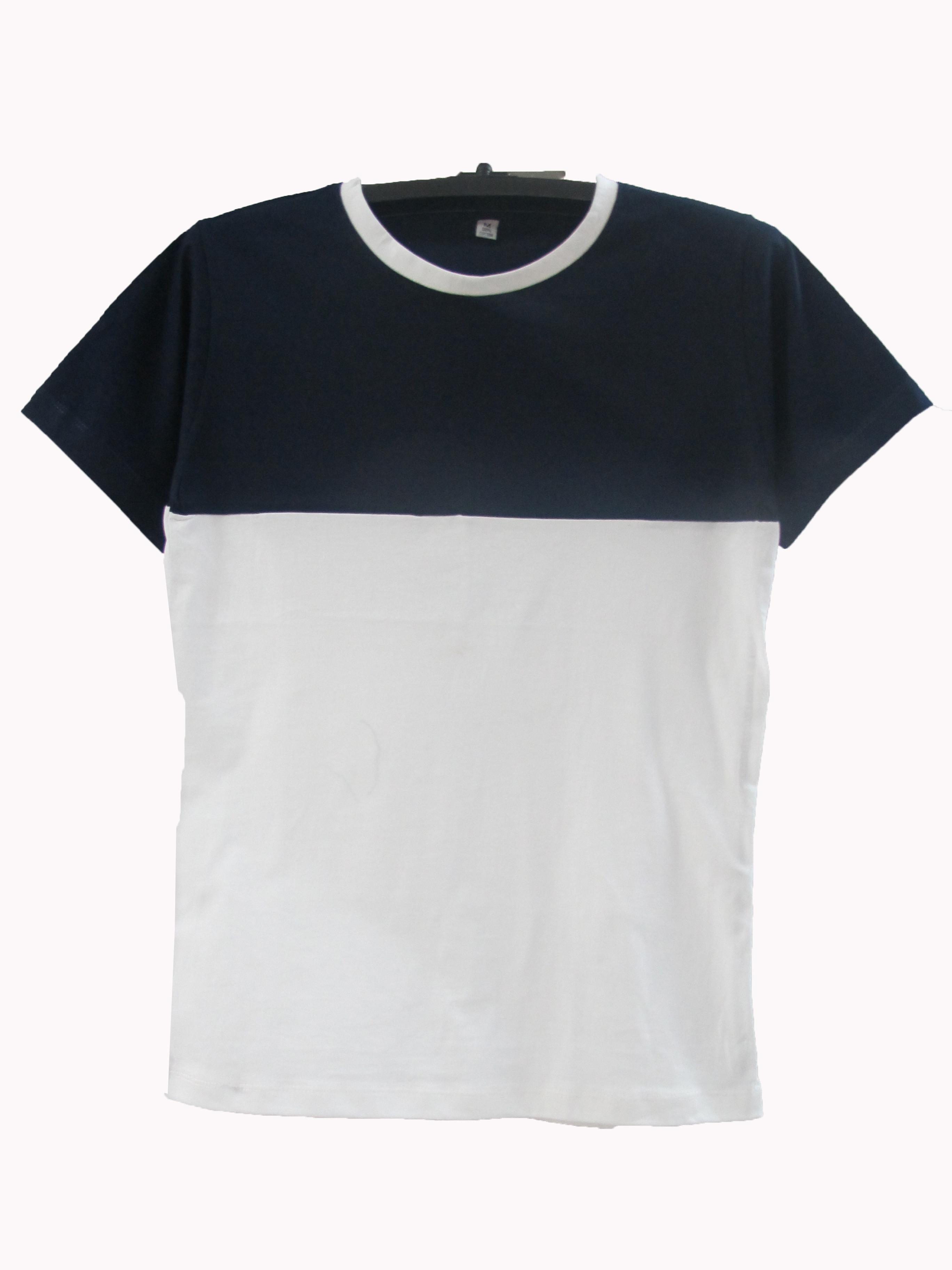 เสื้อตัดต่อข้างบนสีข้างล่างขาว สีกรม