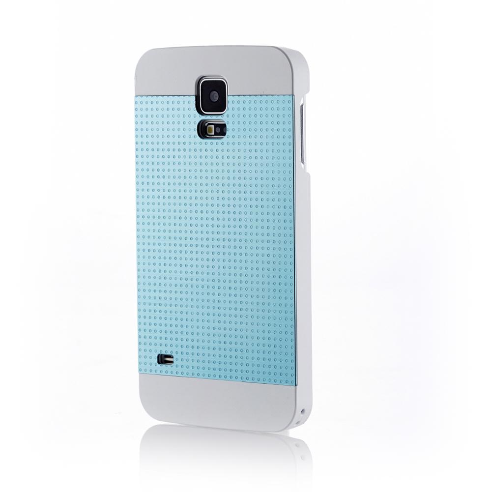 MOTOMO INO METAL S5 PERFPRATED CASE for Galaxy S5 (Aqua Blue)
