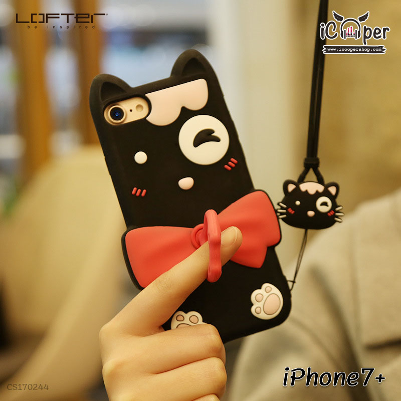 LOFTER Soft Silicone - Black Cat (iPhone7+)
