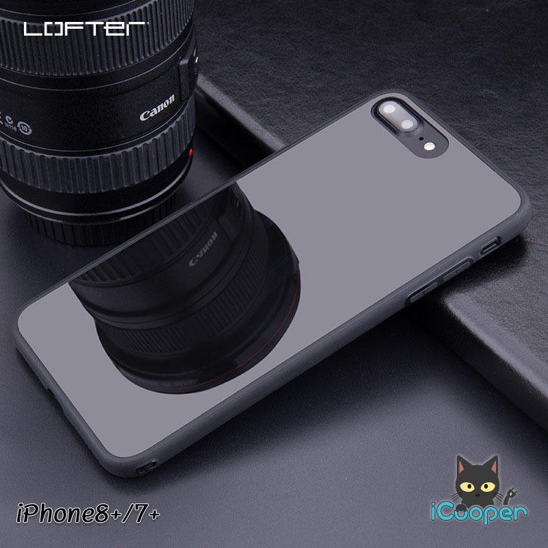 LOFTER TPU Mirror Case - Bright Black (iPhone8+/7+)