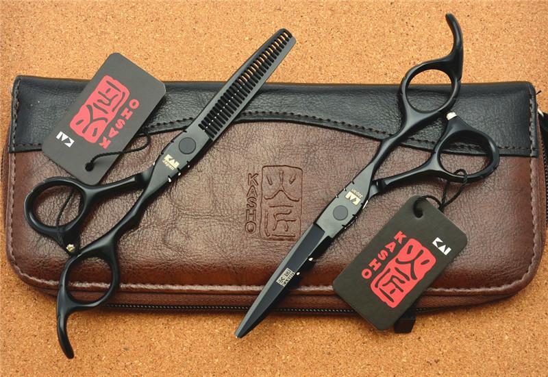 กรรไกรตัดผมซอยผม Kasho Black Blazers 6.0