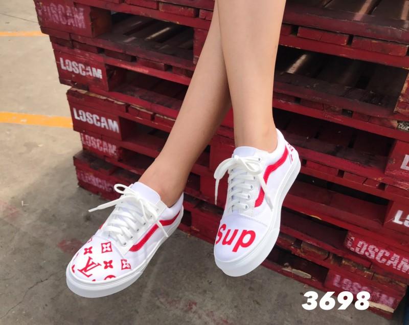 พร้อมส่ง Vans LV 3698-WHI [สีขาว]
