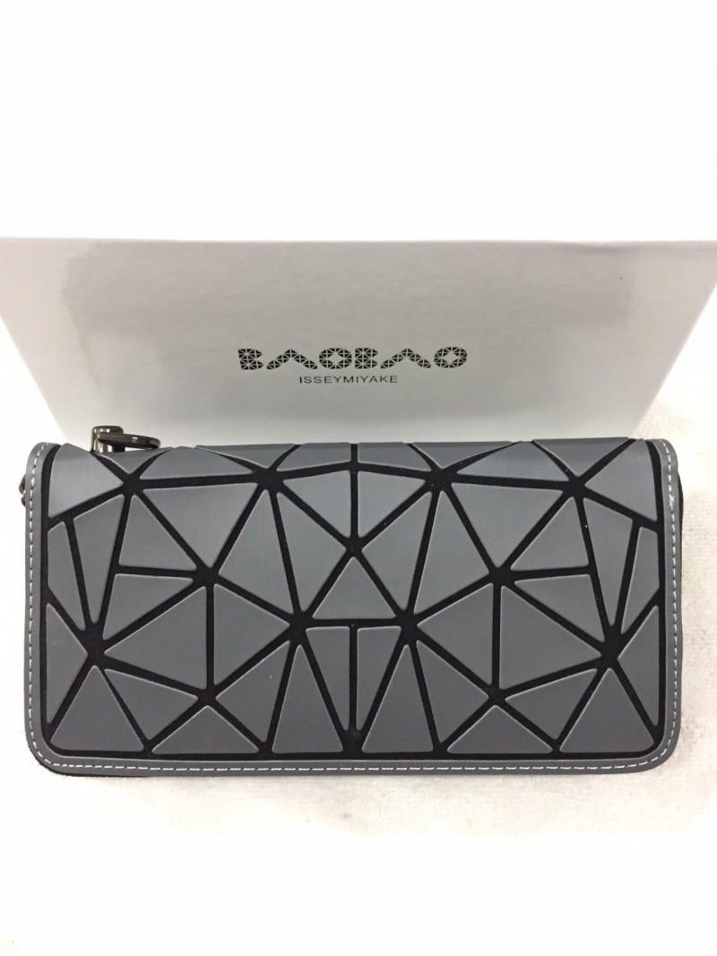 กระเป๋าครัช กระเป๋าถือ กระเป๋าสตางค์ baobao logo แบบซิป [สีเทา]