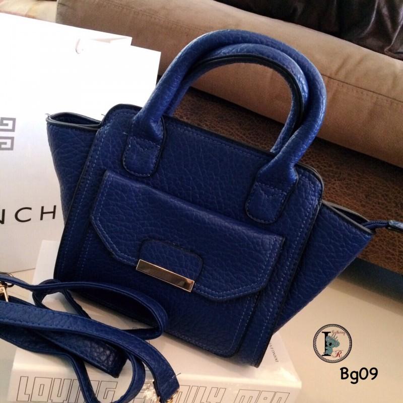 กระเป๋าสะพายแฟชั่น กระเปาสะพายข้างผู้หญิง หนังนิ่มเกรดพรีเมี่ยม Style Chalres & Keith [สีน้ำเงิน ]