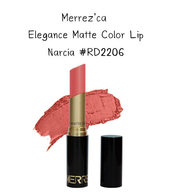 Merrez'Ca Elegance Matte Color Lip #RD2206 Narcia