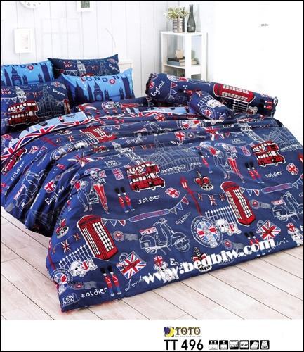 toto ชุดที่นอน-ชุดผ้าปูที่นอนลายสัญลักษณ์ต่างประเทศ TT496
