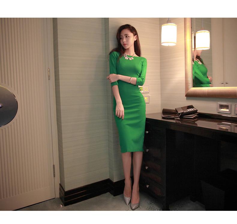 รับตัวแทนจำหน่ายชุดเดรสแฟชั่นเกาหลีสีเขียวน่ารักๆ