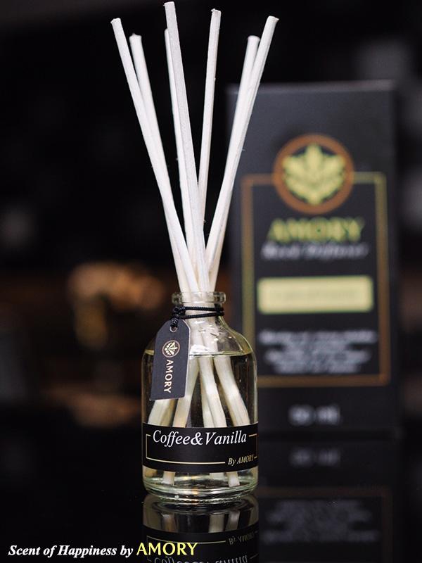 กลิ่น Coffee & Vanilla Scent 50 ml. ก้านไม้หอม Aroma Reed Diffuser