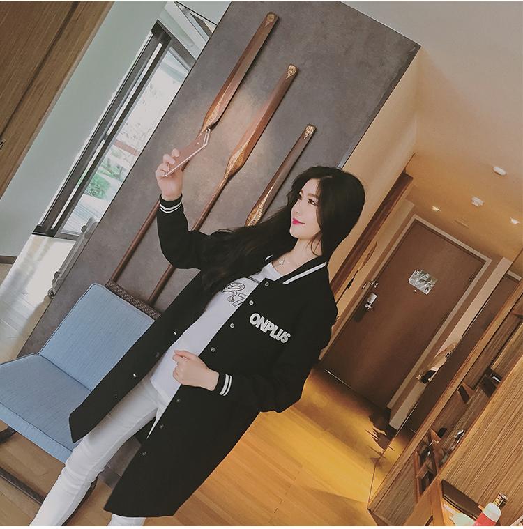 เสื้อกันหนาวแฟชั่นเกาหลีสีดำ