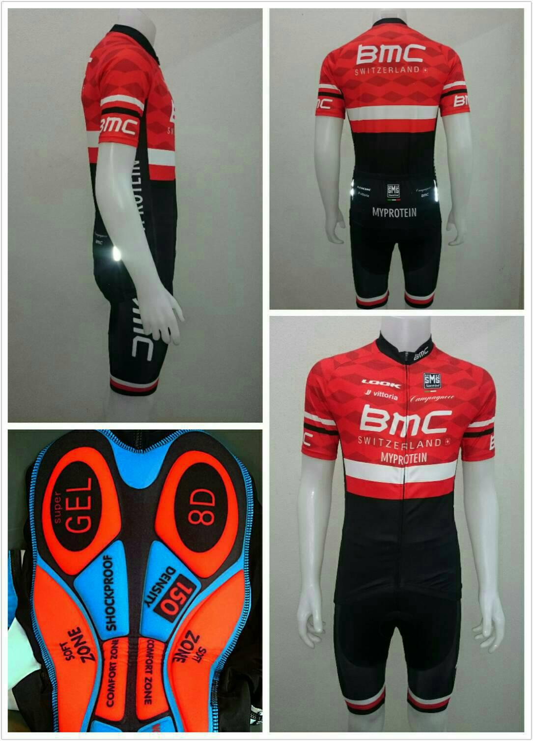 เสื้อปั่นจักรยาน แขนสั้น BMC แดง ใหม่!