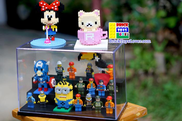 Display Case 3 ชั้น มินิฟิกเกอร์ มินิบล็อก ของเล่น ตัวต่อ เลโก้จีน ราคาถูก เชียงใหม่ www.bricktoyslover.com Mini Blocks ตัวต่อนาโน คุณภาพดี