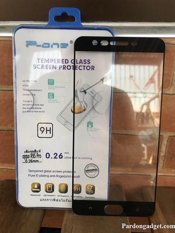 ฟิล์มกระจกเต็มจอ Oppo R9S Pro สีดำ