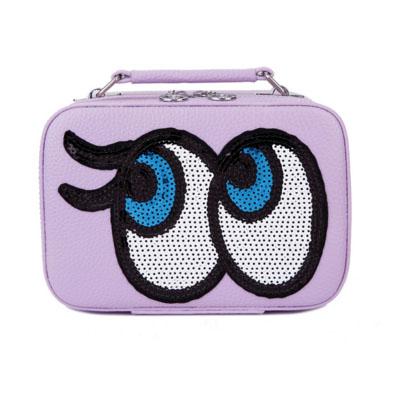 กระเป๋าเครื่องสำอาง big eyes mini สีม่วง