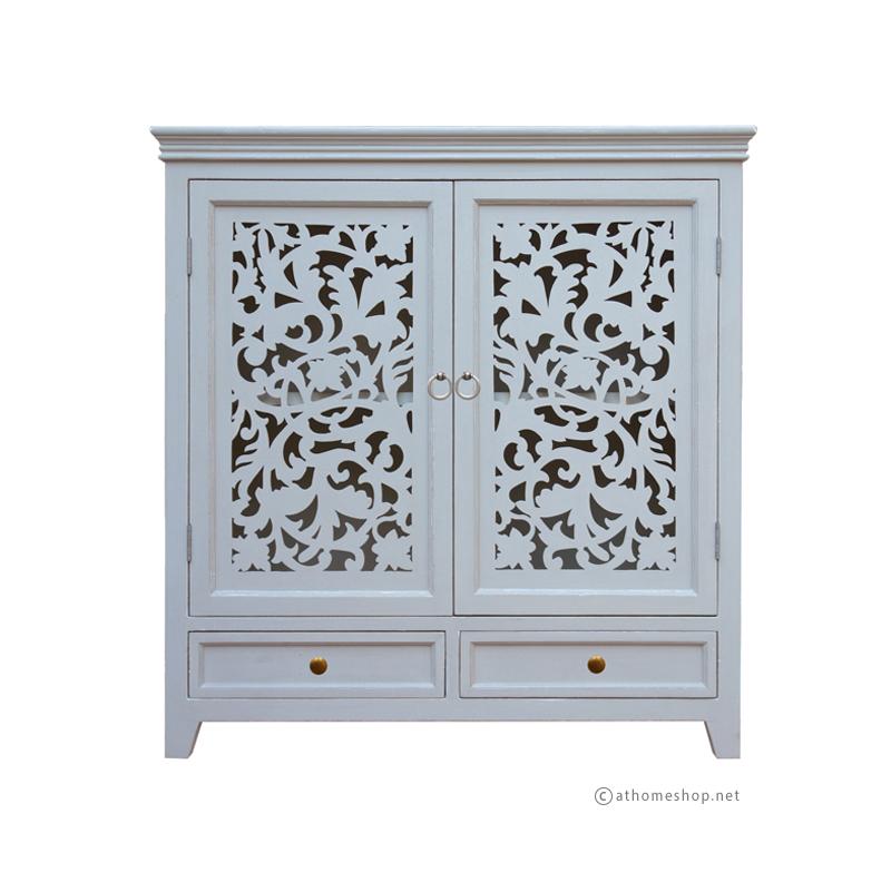 ตู้บานฉลุลายลูกไม้ Filigree door cabinet