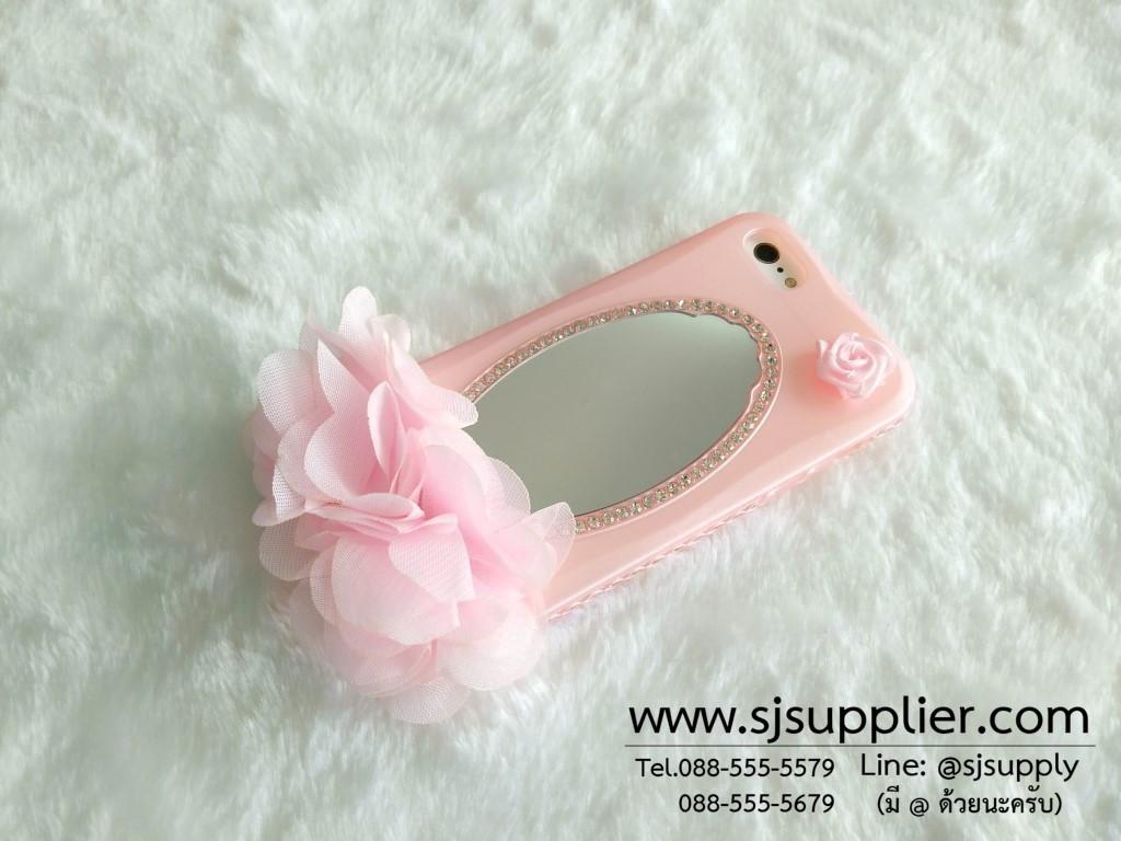 เคส iPhone 6/6s Plus ดอกไม้กระจก สีชมพู