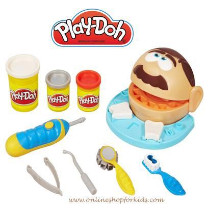 แป้งโดว์หมอฟัน Play-Doh Doctor Drill 'n Fill Playset