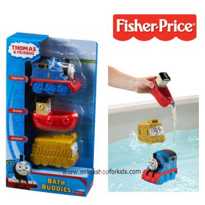 ของเล่นในห้องน้ำ Fisher-Price Thomas & Friends 3-Pack Bathtub Buddies