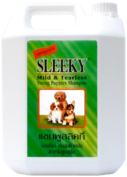 SLEEKY แชมพูสูตรสำหรับลูกสุนัข (แกนลอน 3800 ซีซี)