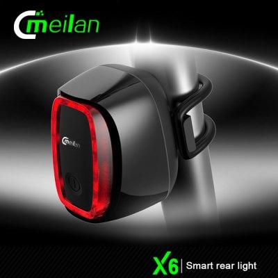 ไฟท้ายจักรยาน Meilan X6 (USB) 900mAh ปรับได้ 7 โหมด ใช้งานได้ต่อเนื่อง 36 ชม.