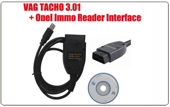 VAG TACHO 3.01 + Opel Immo Reader Interface