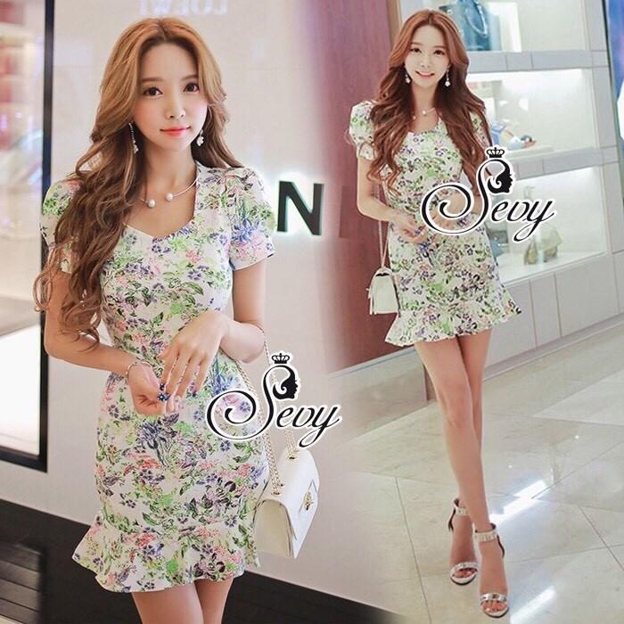 Tropical Pastel Layer Mini Dress