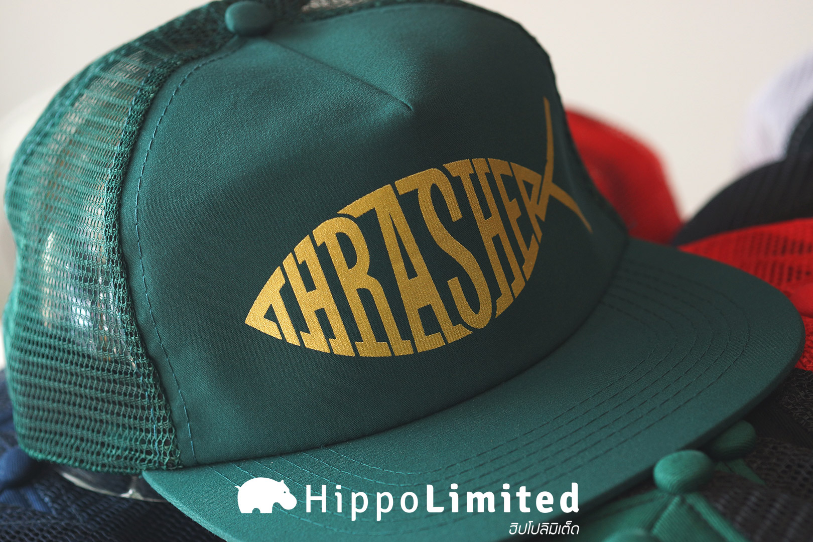 หมวก Thrasher Fish Mesh Snapback - Green