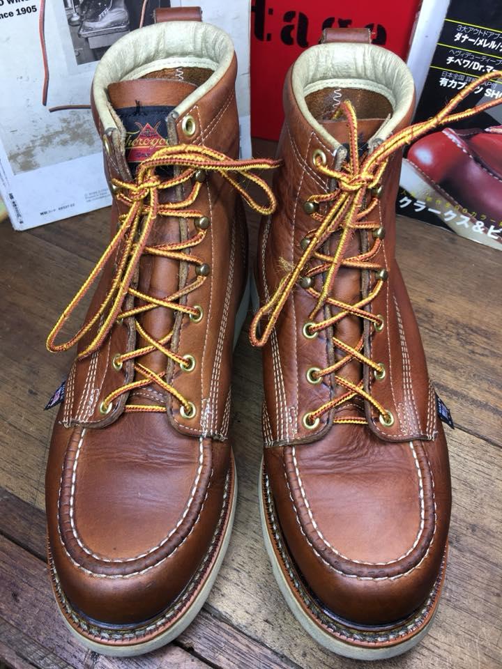Thorogood 418-4200 บูททรง Moc Toe สี Tobacco Oil-Tanned Leather ทรงสวย