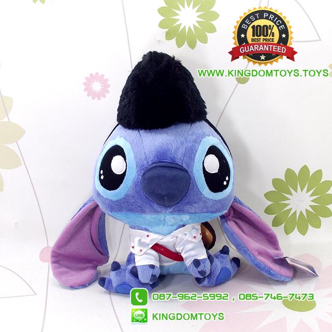 ตุ๊กตา Cutie Stitch สะพายกีต้าร์หมวกดำ 10 นิ้ว [Disney Stitch]