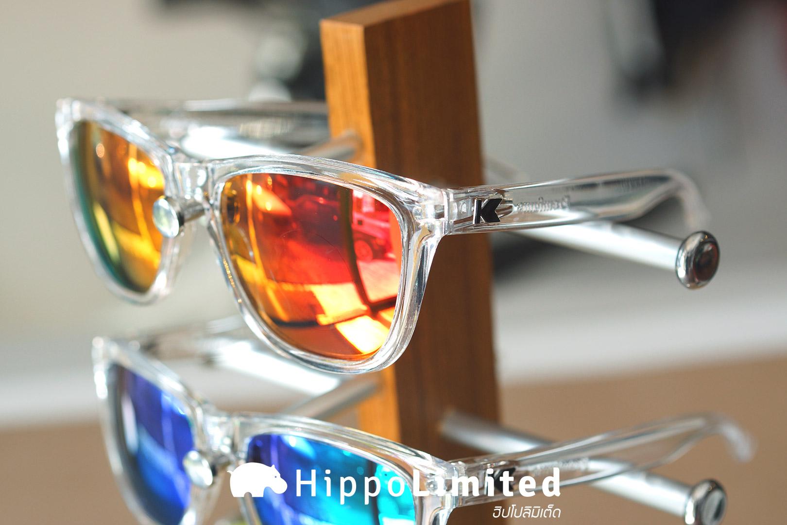 แว่น Knockaround Premiums Sunglasses - Clear / Red Sunset
