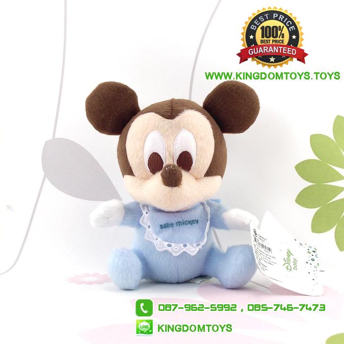 ตุ๊กตามิกกี้เมาส์เบบี้ 6.5 นิ้ว [Mickey Mouse]