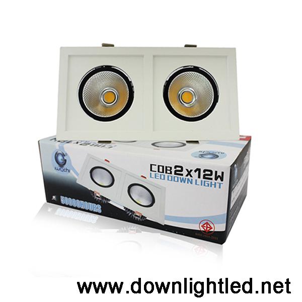 ดาวน์ไลท์ LED IWACHI 2x12w (แสงส้ม)