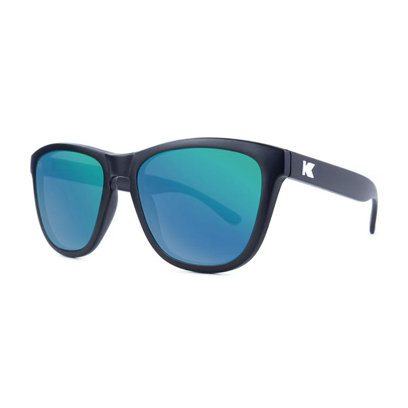 Knockaround Premiums Sunglasses - Black / Green Moonshine