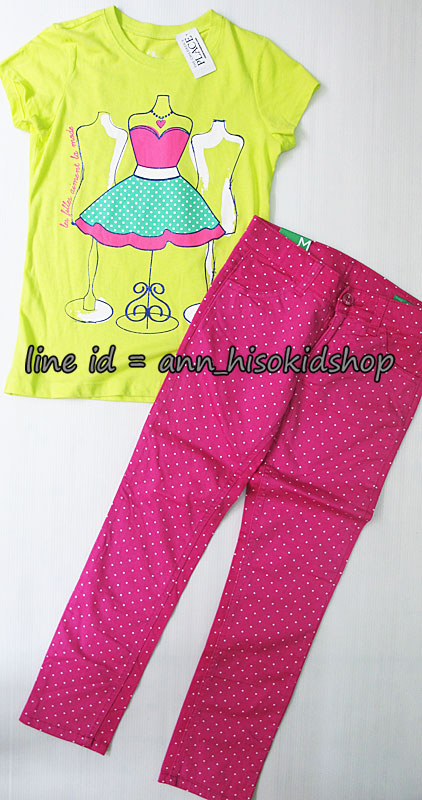 SP019 Place T-Shirt + Benetton Pink Trouser sz 7-8 ปี