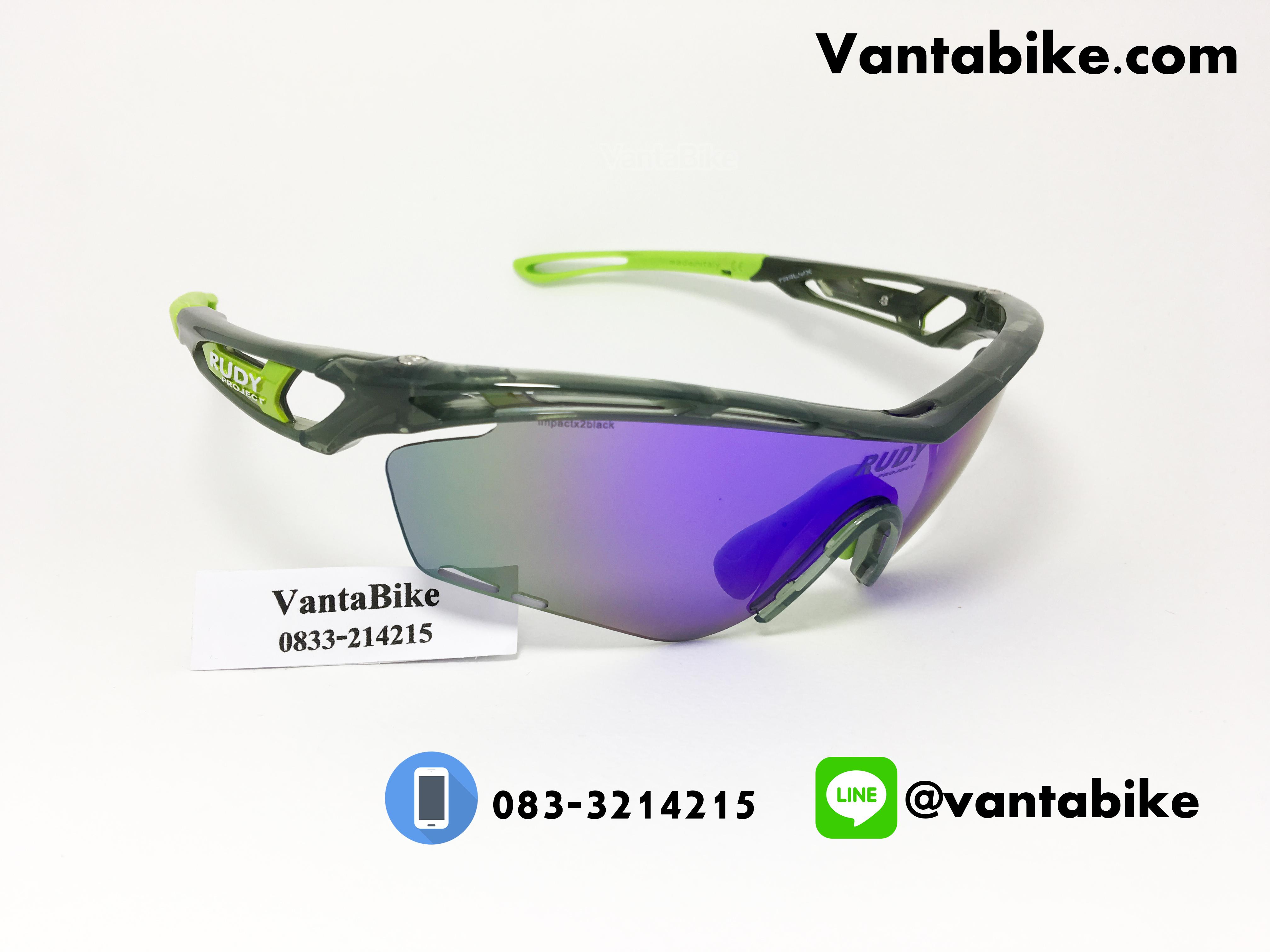 แว่นตาปั่นจักรยาน Rudy Project [สีดำใส-เขียว]
