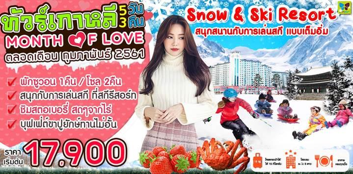 MONTH OF LOVE IN KOREA 5D3N จินแอร์(LJ)ราคาเริ่มต้น 17,900 เท่านั้น