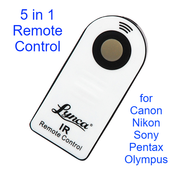 Lynca 5 in 1 Universal Infrared Wireless Remote Control for Canon Nikon Sony Olympus Pentax Camera