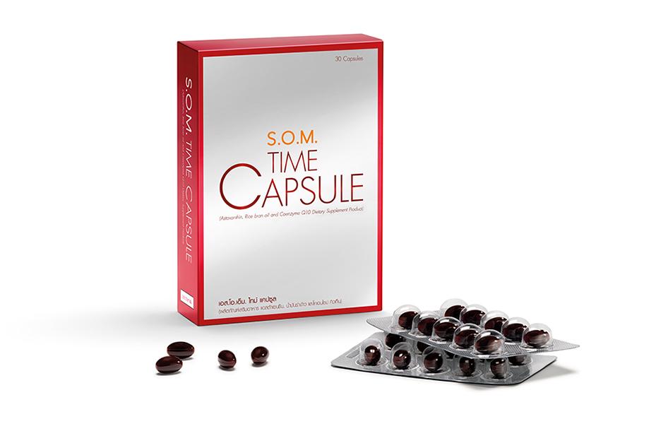 Time capsule สูตรใหม่ S.O.M. Time capsule เพิ่มประสิทธิภาพมากขึ้น 1 กล่อง 30 แคปซูล