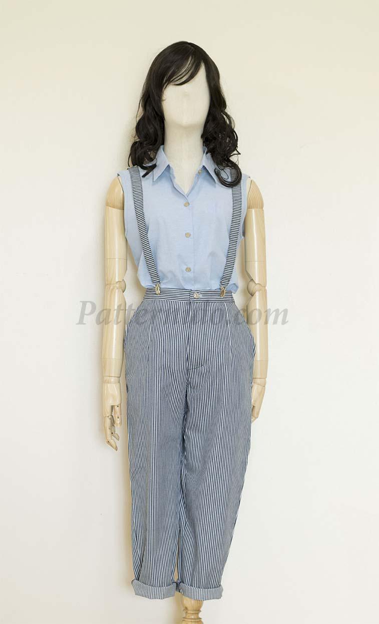 แพทเทิร์นชุดเสื้อ+กางเกง