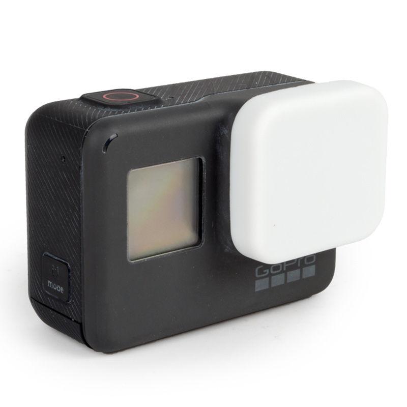 ฝาปิดเลนส์ ซิลิโคน GoPro Hero 5 6 White ขาว