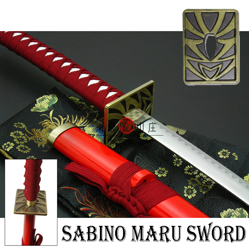 JAPAN ดาบซามูไร คาตานะ Sabino Maru Sword + แท่นวาง(ดาบซาบิมารุBleach)