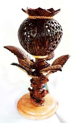 โคมไฟกะลามะพร้าวรูปดอกฝิ่นOpium Flower Coconut Shell Lamp