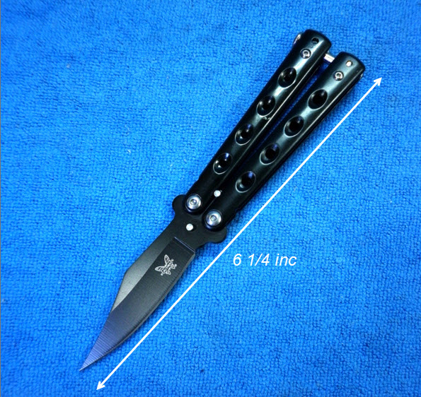 มีดควง สแตนเลส ขนาดกลาง สีดำ