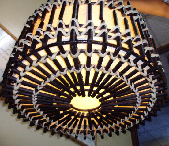 โคมไฟไม้ไผ่แบบแขวนเพดาน Bamboo Ceiling Lamp (BCL001)