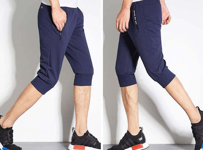 3สี ++กางเกงผ้าฝ้ายขาสั้นขาจั๊ม เอวจั๊ม รูด ซิบดำกันน้ำ size 28-40 ดำ น้ำเงิน เทาอ่อน