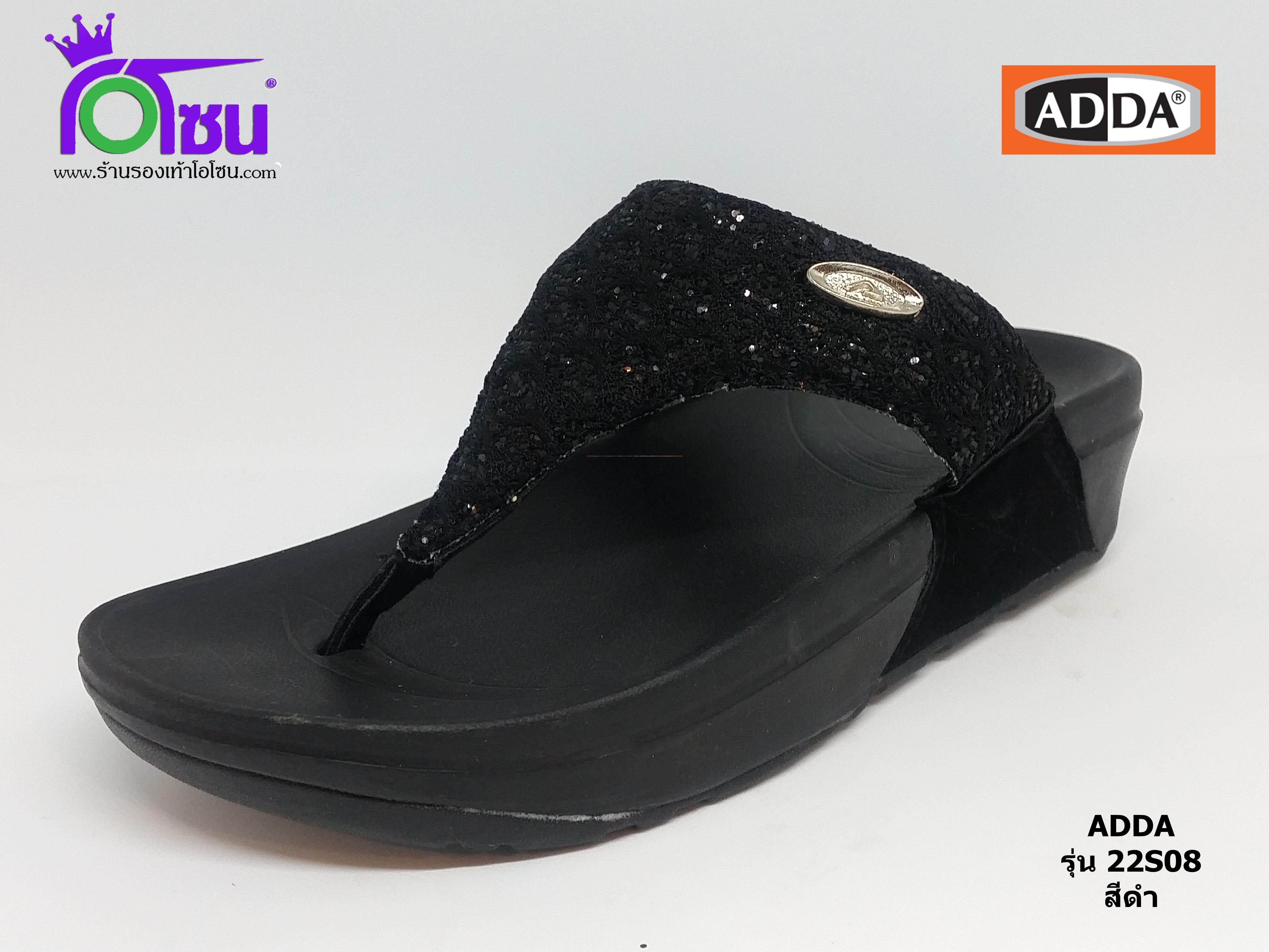 ADDA แอดด๊า รหัส 22S08 สีดำ เบอร์ 4-7