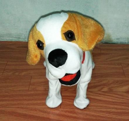 ตุ๊กตาน้องหมา สีน้ำตาล ส่ายได้ มีเสียงเพลง